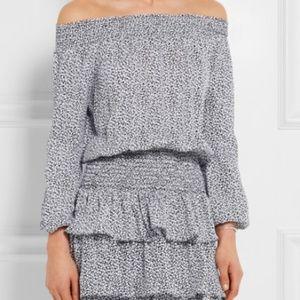 Michael Kors Off the Shoulder Floral Print Dress